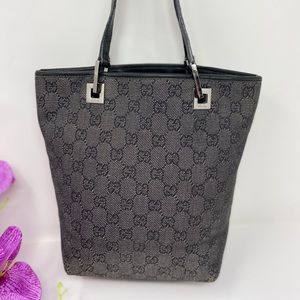 Preowned Authentic GG Gray Gucci Shoulder Bag